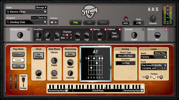 Strum GS Electric GUI Screen