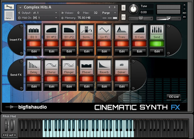 Synth FX Screen