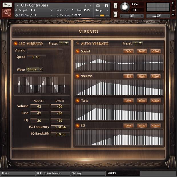 Solo Contrabass GUI Screen 03