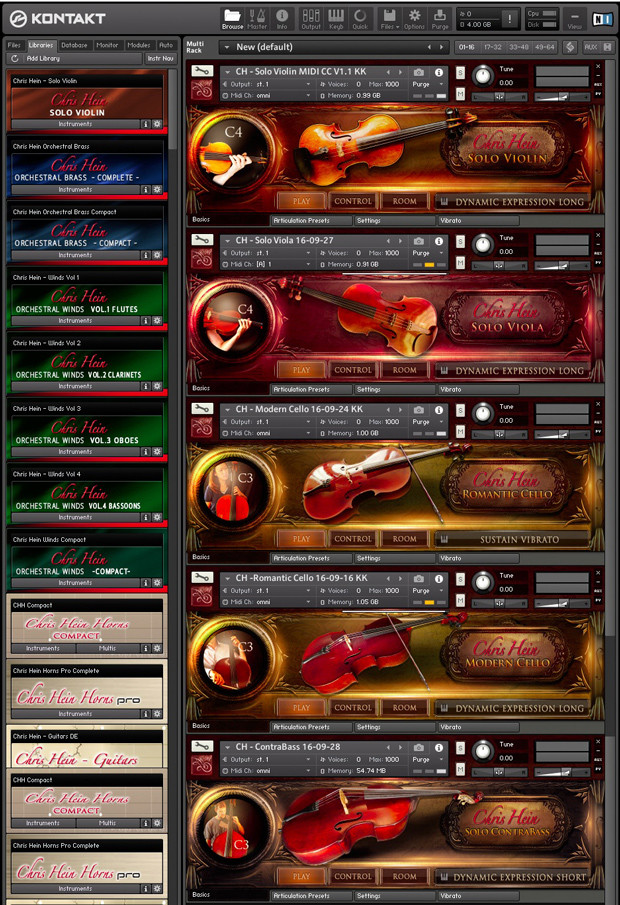 Solo Strings Complete GUI