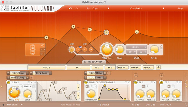 Volcano 2 GUI Screen
