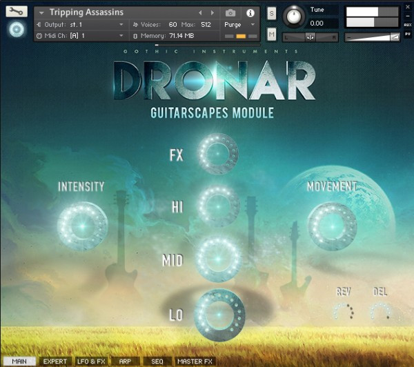 Dronar Guitar Soundscapes GUI