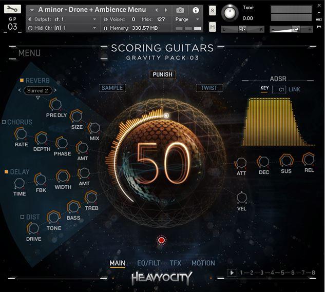 Scoring Guitars Screen