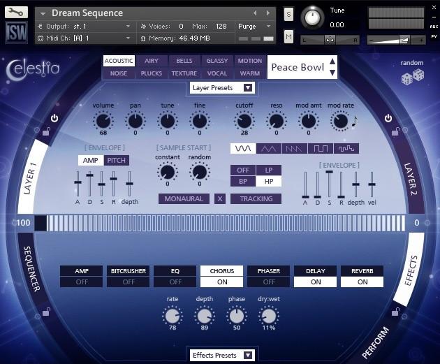 Celestia GUI Screen