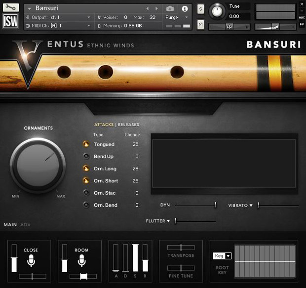 ISW Bansuri GUI Screen
