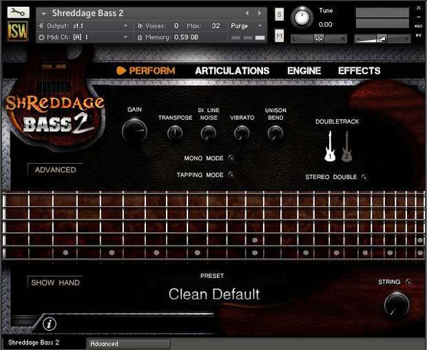 Shreddage Bass 2 GUI