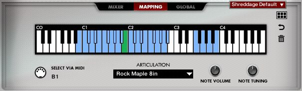 Drums Mapping Screen
