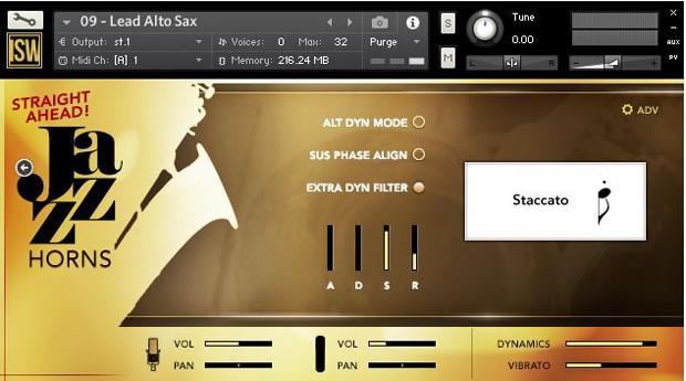 Straight Ahead Jazz Horns GUI