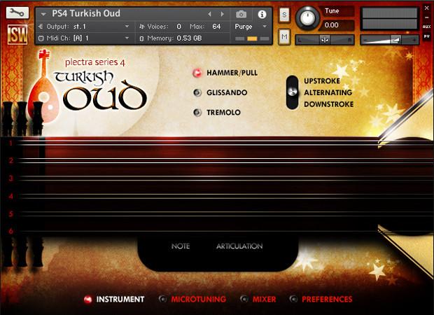 Turkish Oud GUI