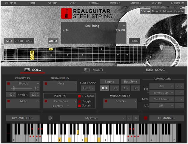 RealGuitar GUI