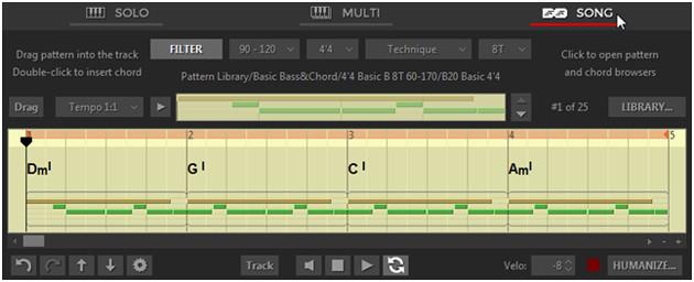 RealGuitar5 Interface Song