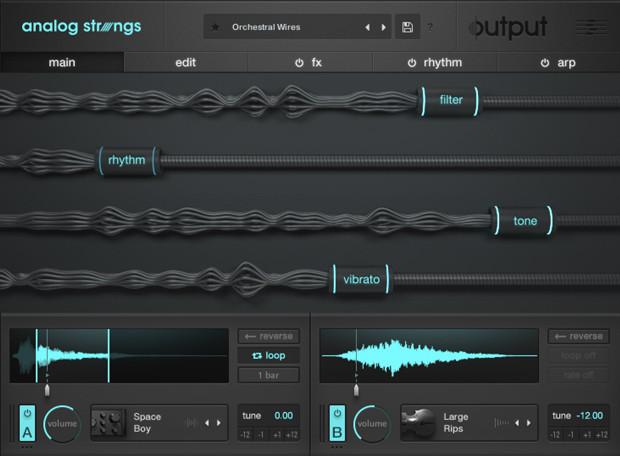 Analog Strings Main GUI
