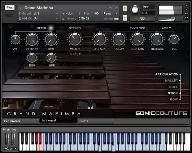 Grand Marimba Screen