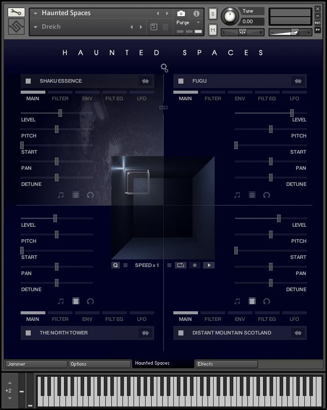 Haunted Spaces GUI Screen