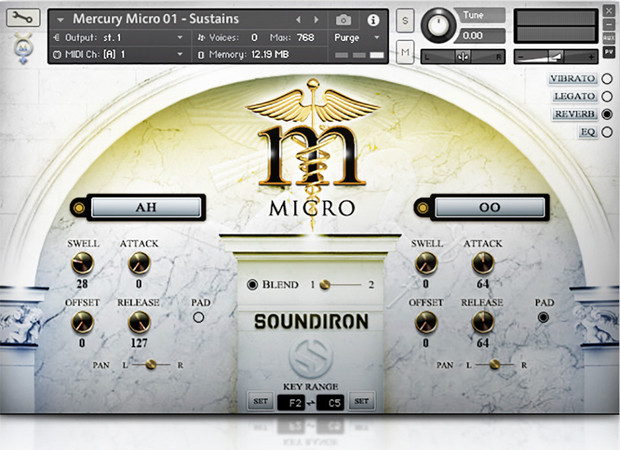 Mercury Micro GUI Scree