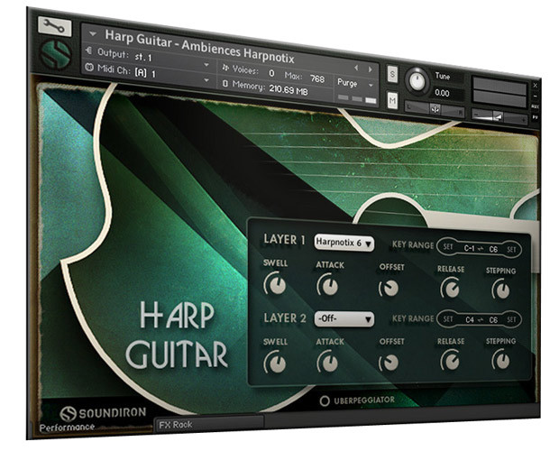 Harp Guitar Screen