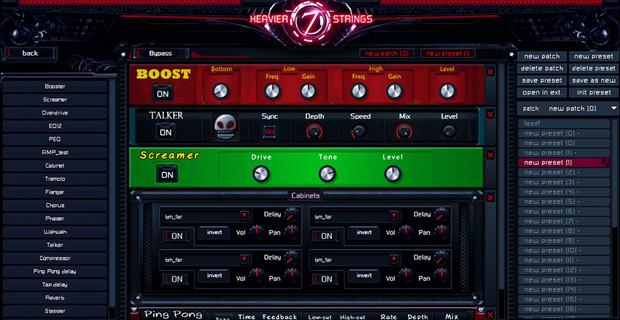 Heavier7Strings EFX GUI Screen