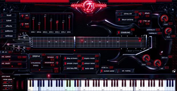 Heavier7Strings Main GUI Screen