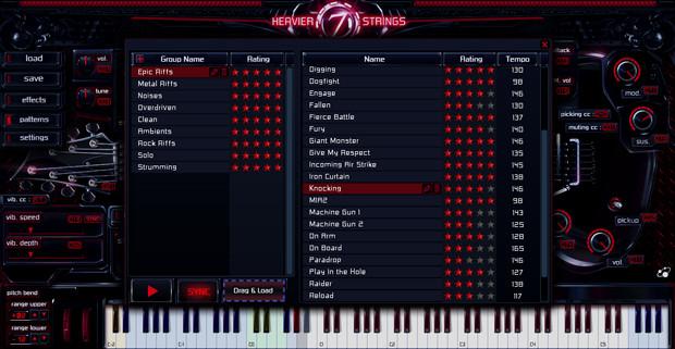 Heavier7Strings Pattern Library Screen