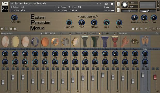 Eastern Percussion Module GUI