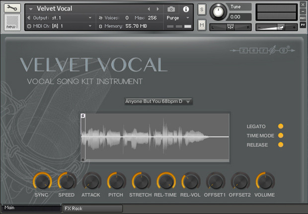 Velvet Vocal GUI