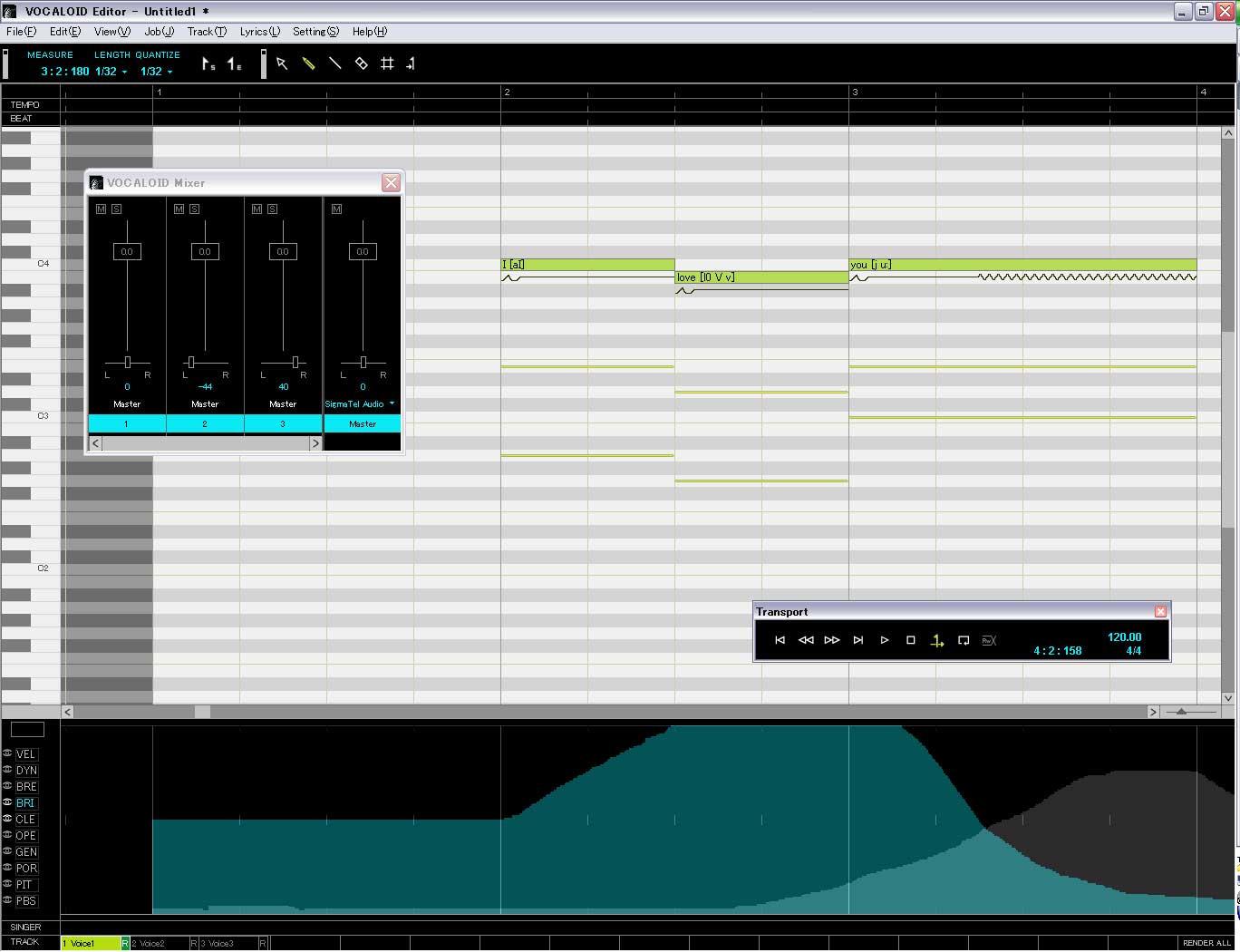 Vocaloid Sonika User Interface