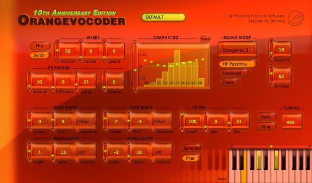 Orange Vocoder Screen
