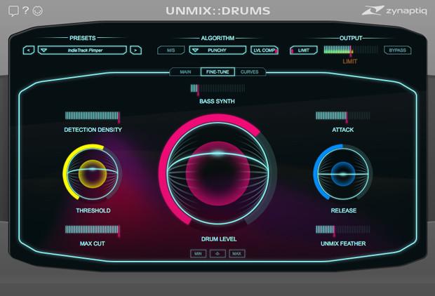 Unmix Drums Screen