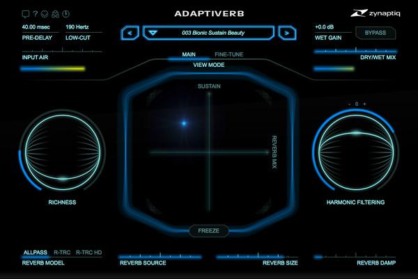 Adaptiverb Main Screen