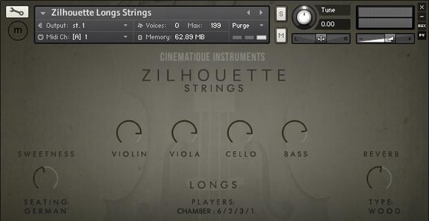 Zilhouette Strings GUI