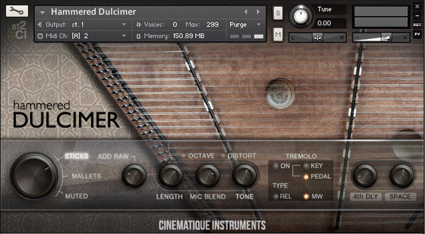 Hammered Dulcimer GUI