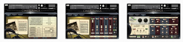 CineStrings Screens