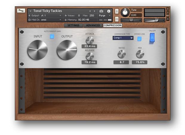 TTT Compression GUI Screen