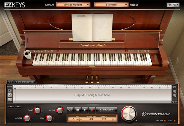 Vintage Upright Screen