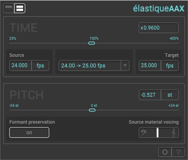 élastiqueAAX GUI Screen