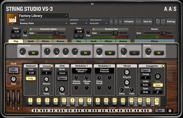 String Studio VS3 GUI Screen One