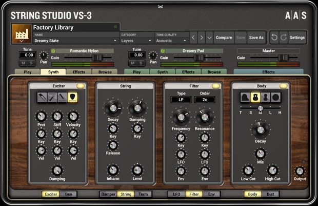 String Studio Synth GUI