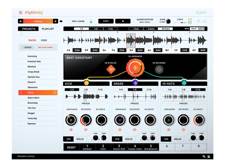 Rhythmiq GUI Screen