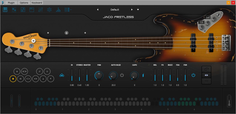 Ample Bass Jaco GUI 1