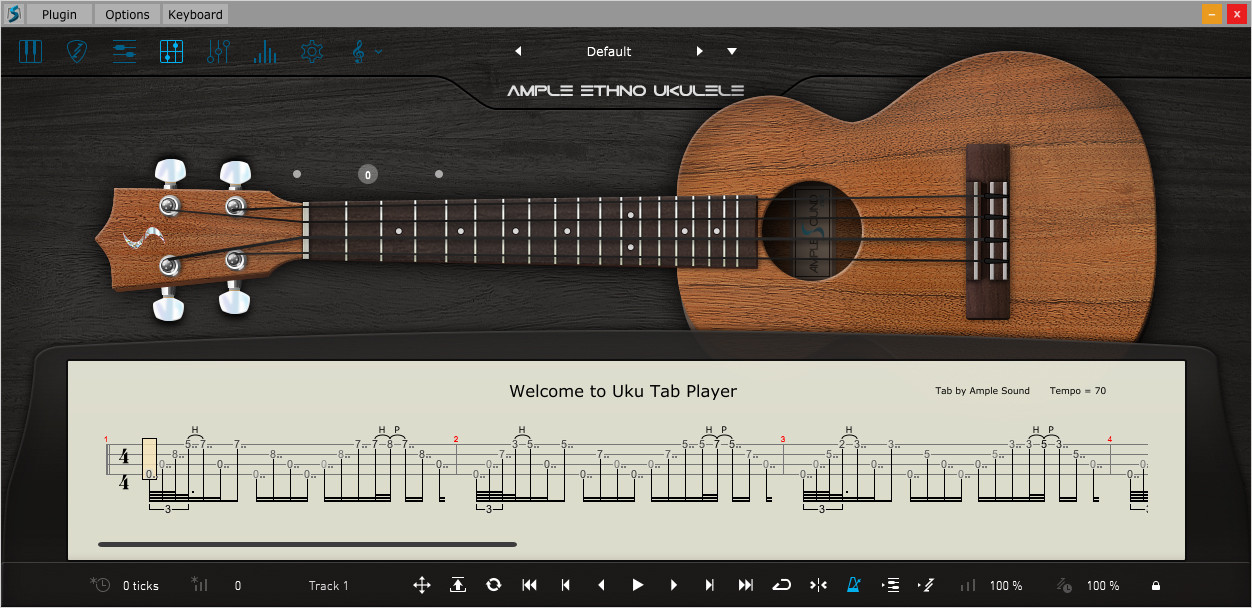 Ethno Ukulele Tab Player