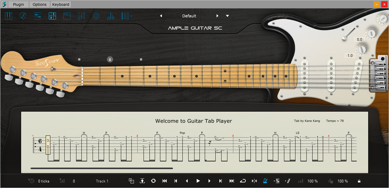 Ample Guitar F III Tab Reader GUI