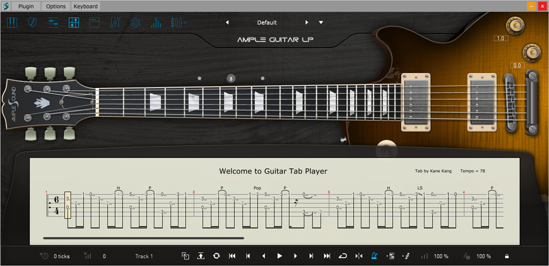 Ample Guitar G III Tab Reader