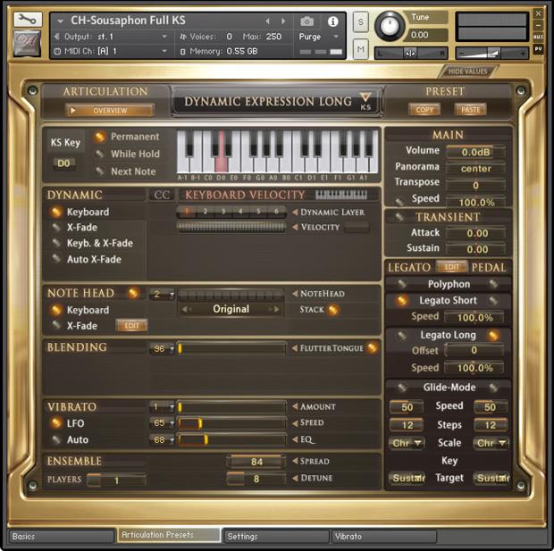CH Brass EXT Basic GUI