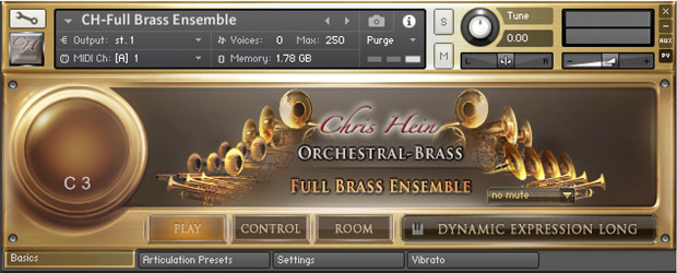 CH Full Brass Ensemble GUI
