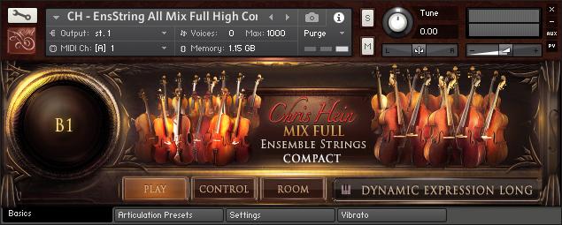 Chris Hein Strings Compact Main GUI
