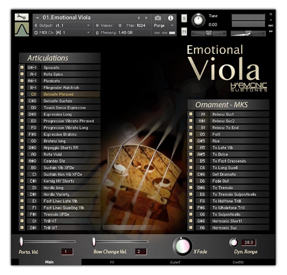 Viola Main GUI