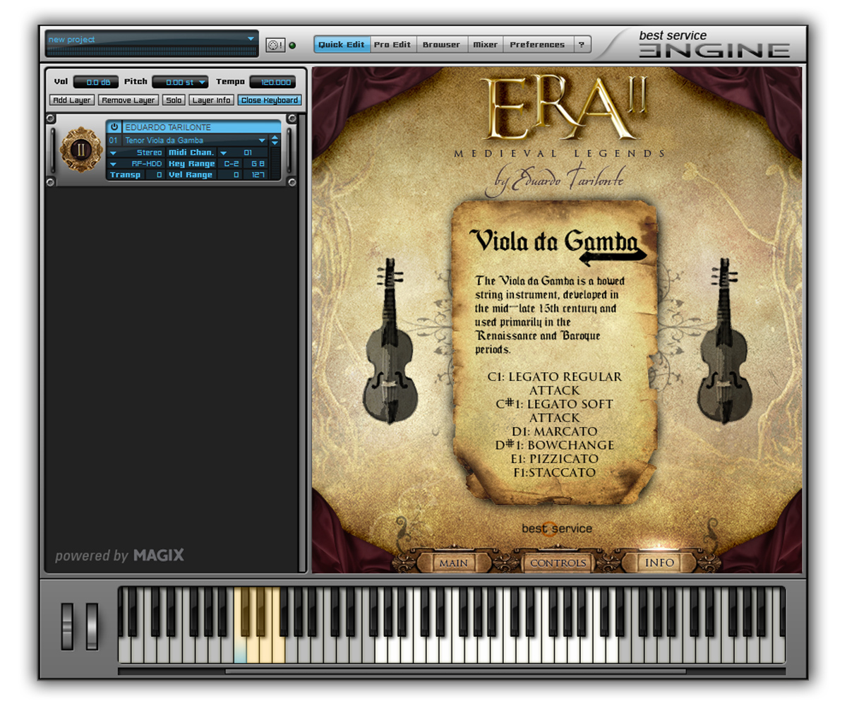 ERA II Strings GUI