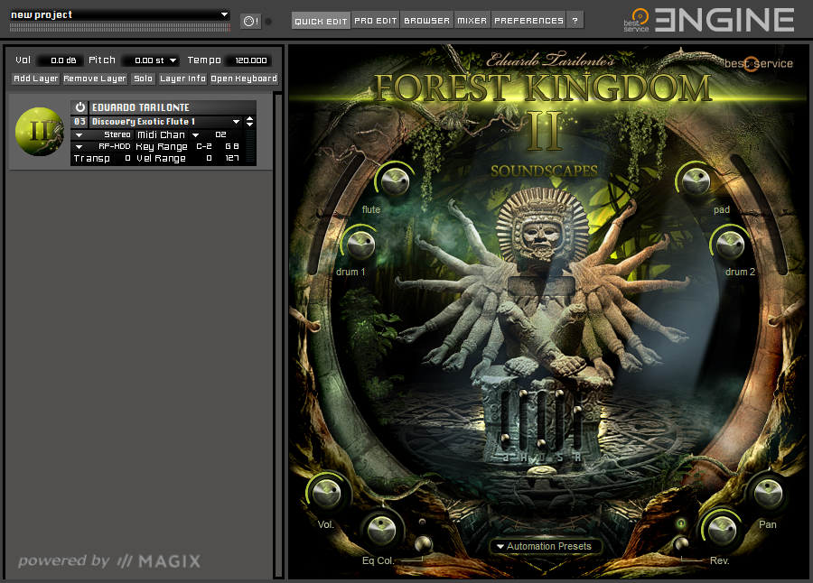 Forest Kindom II GUI