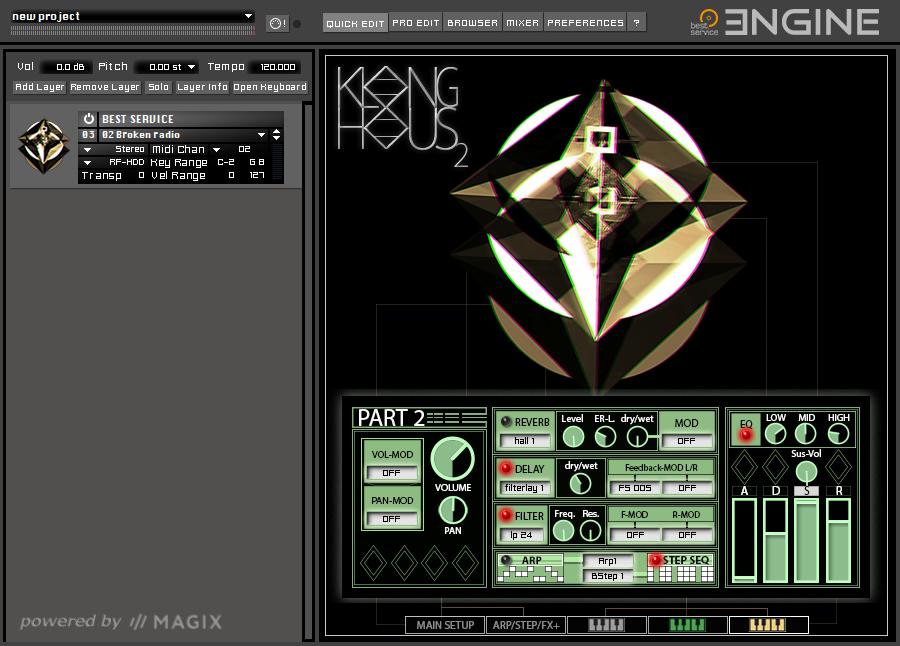 Klanghaus 2 user interface EN
