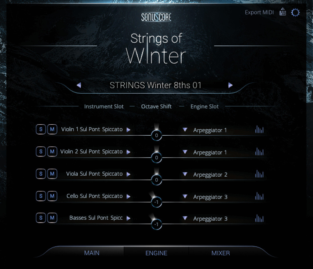 Strings of Winter New GUI